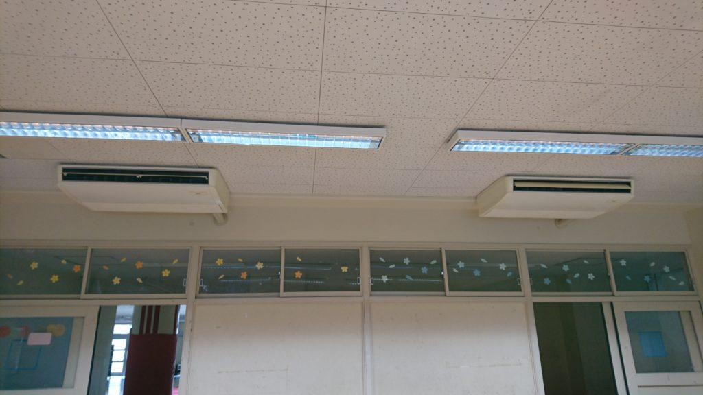 天井型エアコンクリーニング2台