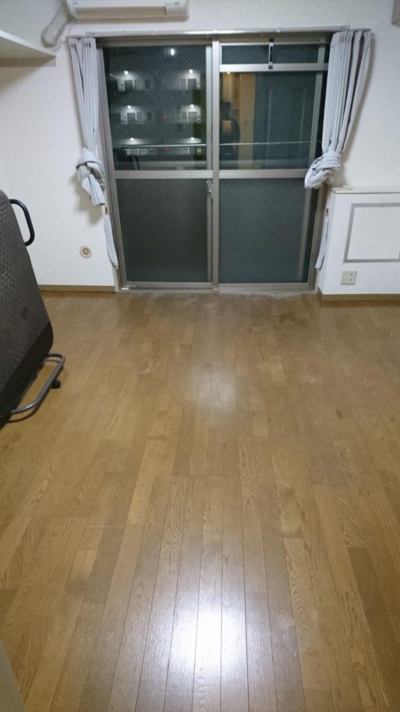床、建具のクリーニング